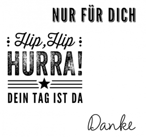 STAMPIN' UP! Kartenset Hip, hip, HURRA! Stempel deutsch