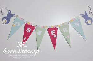 STAMPIN' UP! Ostergirlande mit Petite Petals und Stanze Kleine Blüte und Spiralblume 1