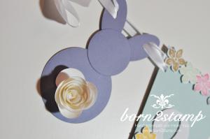 STAMPIN' UP! Ostergirlande mit Petite Petals und Stanze Kleine Blüte und Spiralblume 2