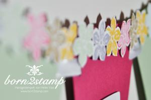 STAMPIN' UP! Ostergirlande mit Petite Petals und Stanze Kleine Blüte und Spiralblume 4