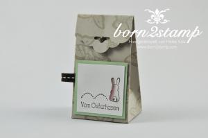STAMPIN' UP! Box mit Papillon Potpourri und Ei(n) schönes Osterfest und Stanze Gewellter Anhänger