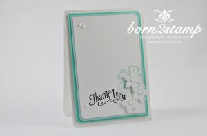 STAMPIN' UP! Dankeskarte mit Perfectly Penned und Flower Shop und Petite Petals