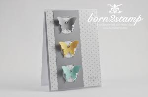 STAMPIN' UP! Dankeskarte mit Stanze Eleganter Schmetterling und DSP im Block Neutralfarben und Six-Sided Sampler