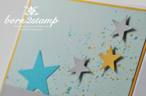 STAMPIN' UP! Karte mit Gorgeous Grunge und Happy Watercolor und Framelits Banner