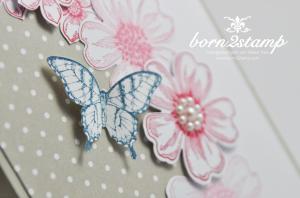 STAMPIN' UP! Muttertagskarte mit Flower Shop und Petite Petals und Papillon Potpourri und Kleine Wünsche