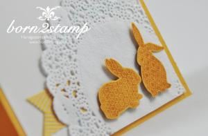 STAMPIN' UP! Osterkarte mit Ei(n) schönes Osterfest und Ein duftes Dutzend und Spitzendeckchen