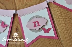STAMPIN' UP! Girlande mit Eleganter Schmetterling und Häkelbordüre und Nostalgische Etiketten