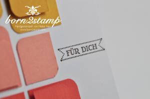 STAMPIN' UP! Karte mit Famose Fähnchen und Eckenabrunder