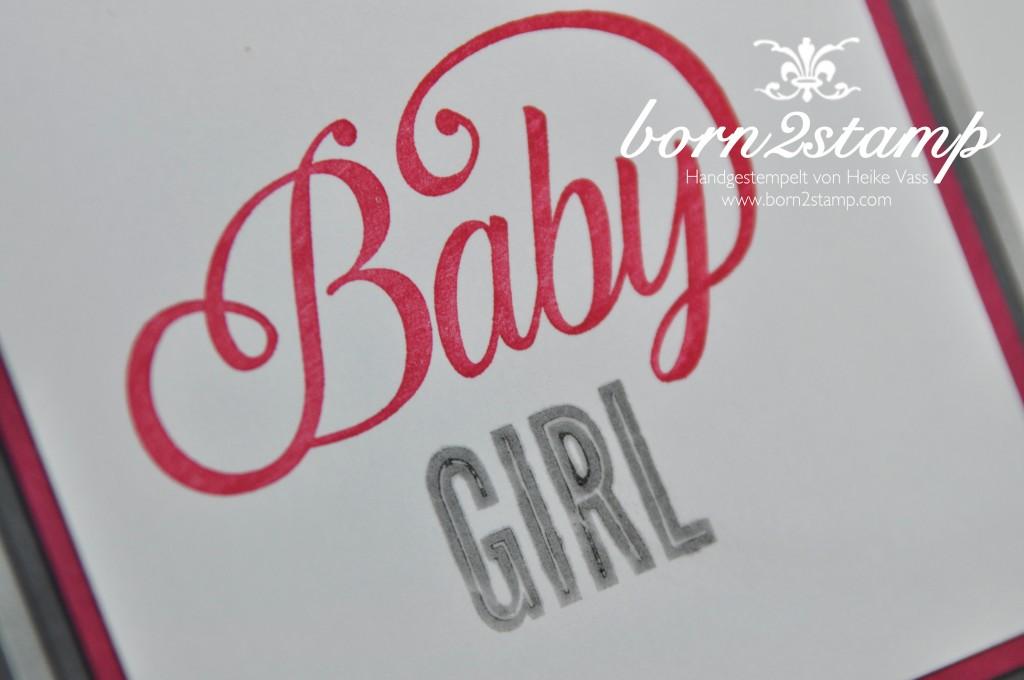 STAMPIN' UP! Karte mit Celebrate Baby