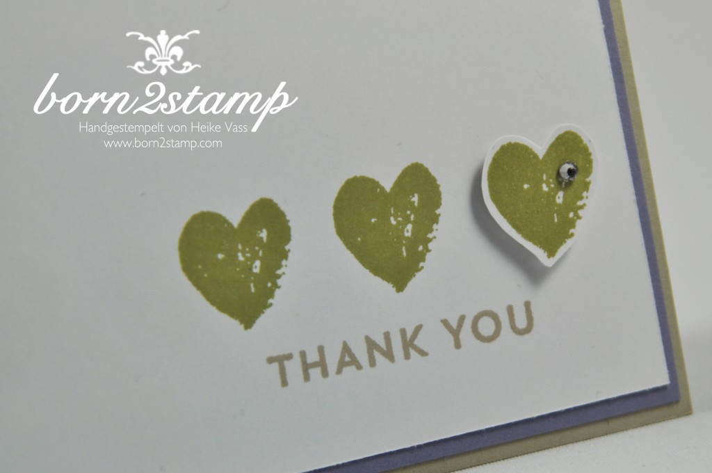 STAMPIN' UP! Dankeskarte mit Celebrate Baby und Work of Arts