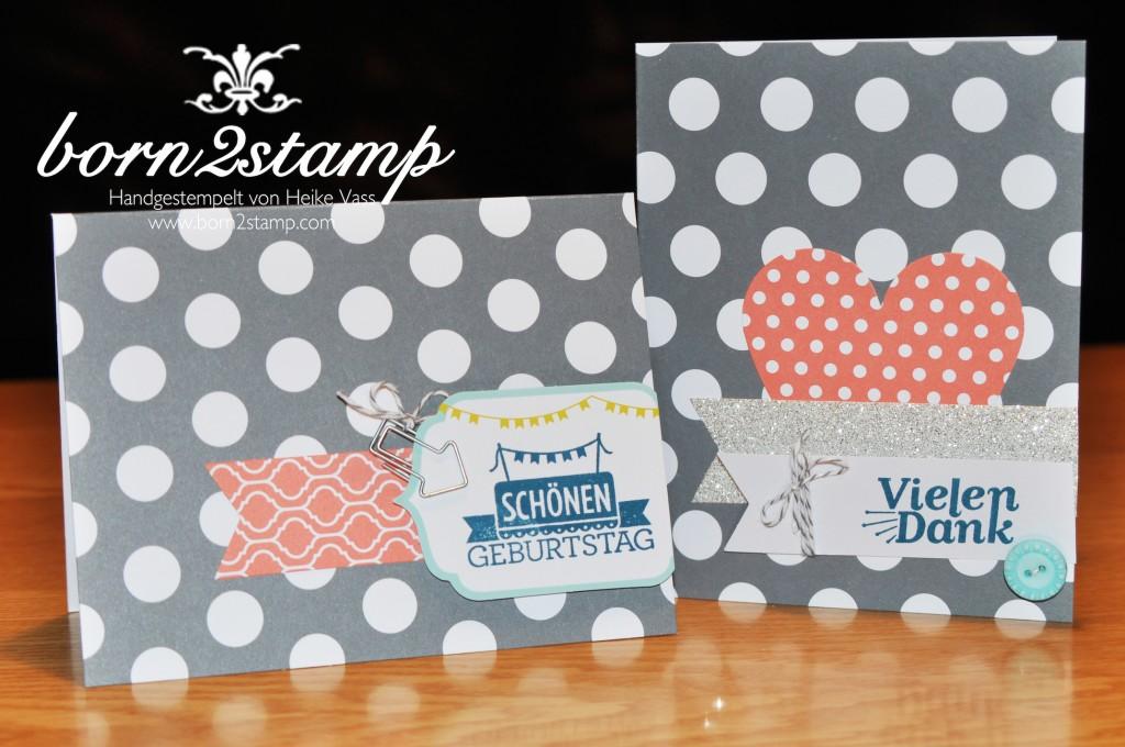 STAMPIN' UP! Geburtstagskarte Dankeskarte Kartenset Für viele Anlässe
