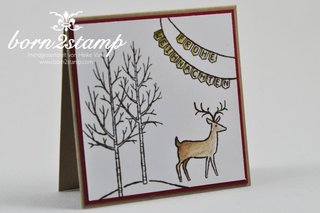 """STAMPIN' UP! Minikärtchen 3x3"""" Weiße Weihnacht, Gesammelte Grüße, Stanzenpaket Itty bitty Akzente"""
