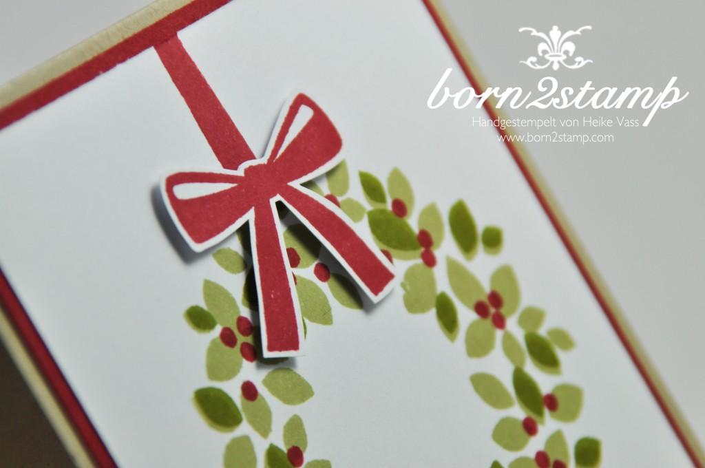 STAMPIN' UP! Weihnachtskarte Willkommen, Weihnacht