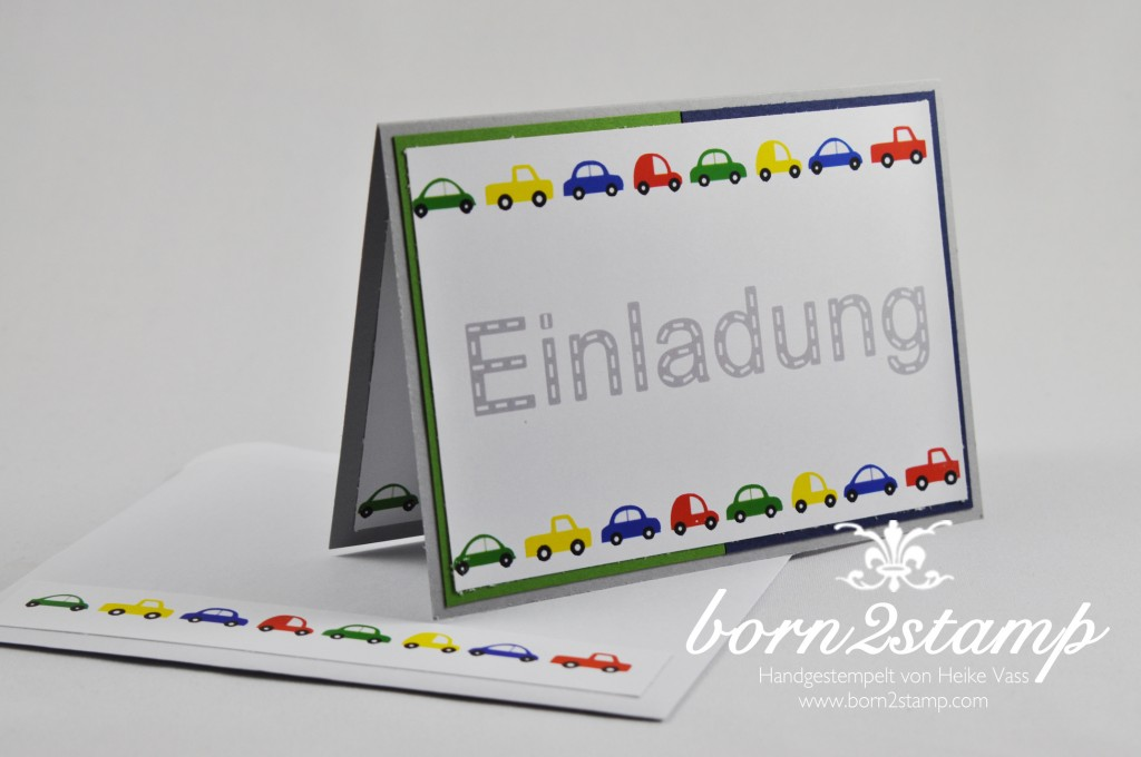 STAMPIN' UP! Einladungskarte Auto Punch Art