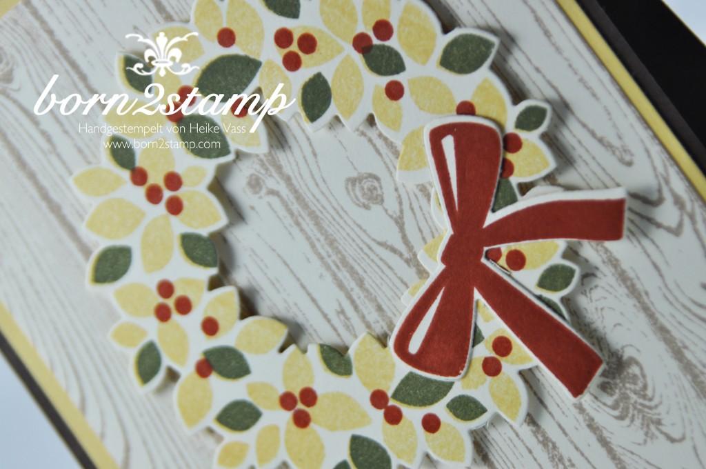 STAMPIN' UP! Herbstkarte Willkommen Weihnacht Hardwood Gesammelte Grueße