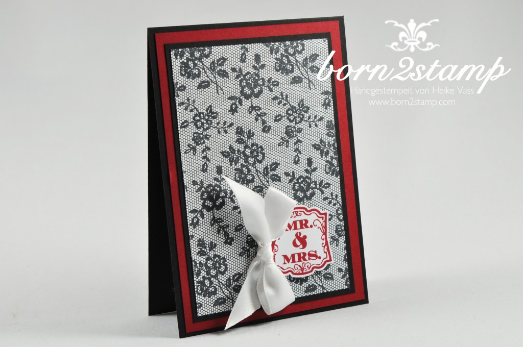 STAMPIN' UP! born2stamp Hochzeitskarte I love lace Label love