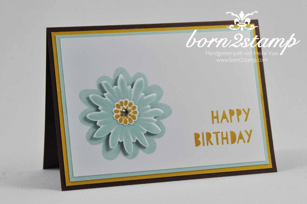 STAMPIN' UP! born2stamp Geburtstagskarte Flower Patch Age Awareness