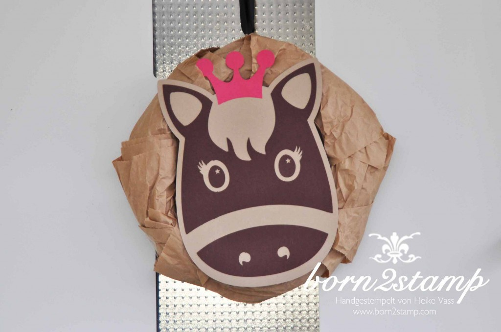STAMPIN' UP! born2stamp Pferdeparty Kindergeburtstag Türschild horse themed birthday party wreath