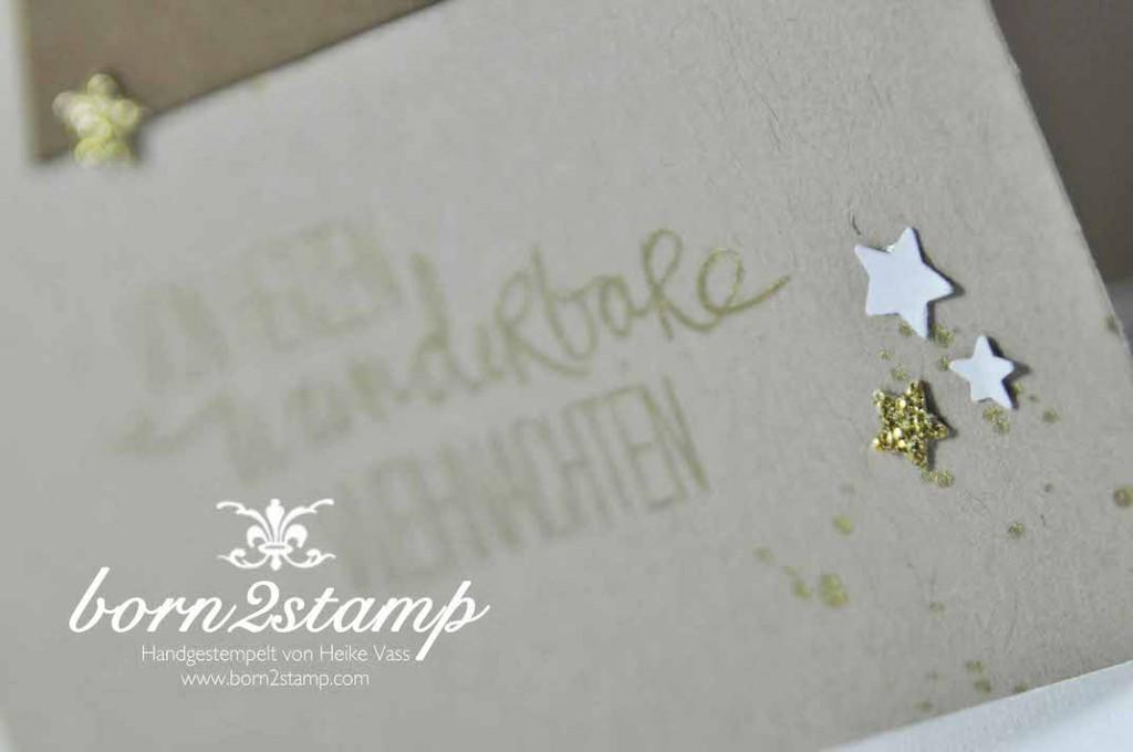 STAMPIN' UP! born2stamp Weihnachtskarte Sternenkonfetti Gorgeous Grunge Willkommen Weihnacht
