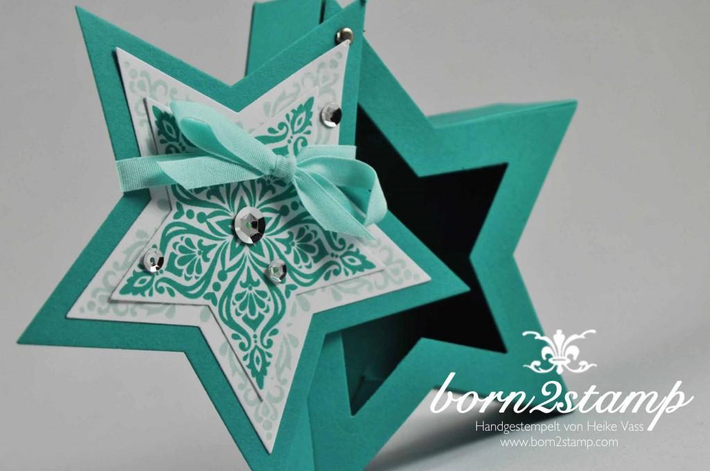 STAMPIN' UP! born2stamp Weihnachtsworkshop Sternstunde Framelits Stern-Kollektion Zauber der Weihnacht Pailletten Eisglitzer