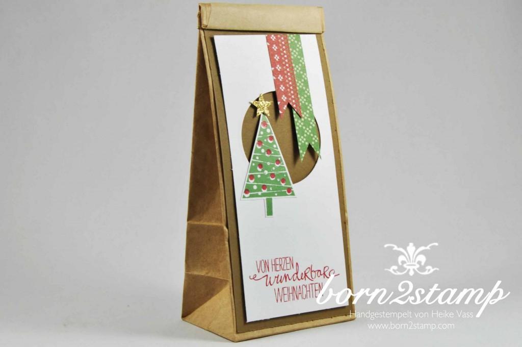 STAMPIN' UP! born2stamp Weihnachtsworkshop Willkommen Weihnacht DSP Festlich geschmückt Christbaumfest