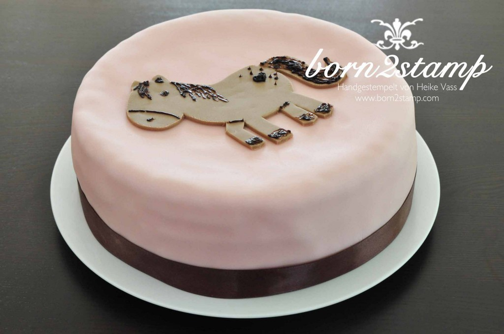 born2stamp Pferd Geburtstagsparty Kuchen Torte Horse birthday party cake