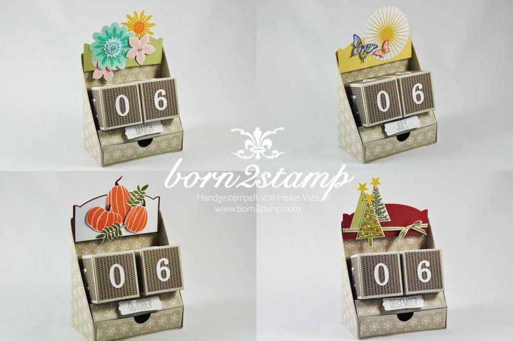 STAMPIN' UP! born2stamp Ewiger Kalender Perpetual calendar Anleitung Tutorial