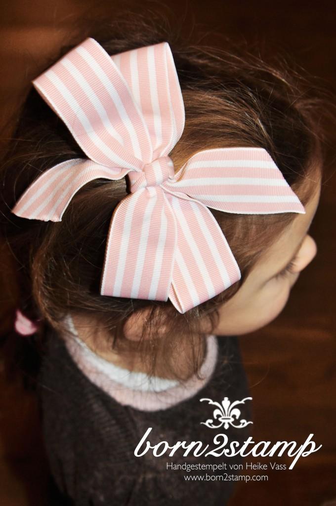 STAMPIN' UP! born2stamp Gestreiftes geripptes Geschenkband Haarschleife Hair bow