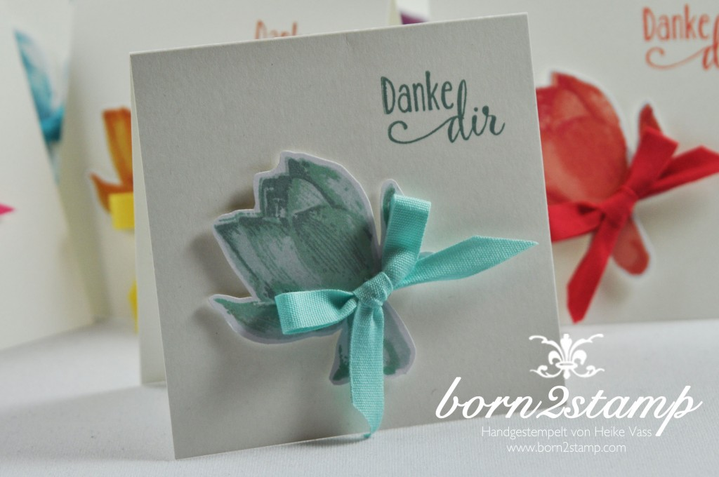 STAMPIN' UP! born2stamp Minikarten So froh Baumwollband