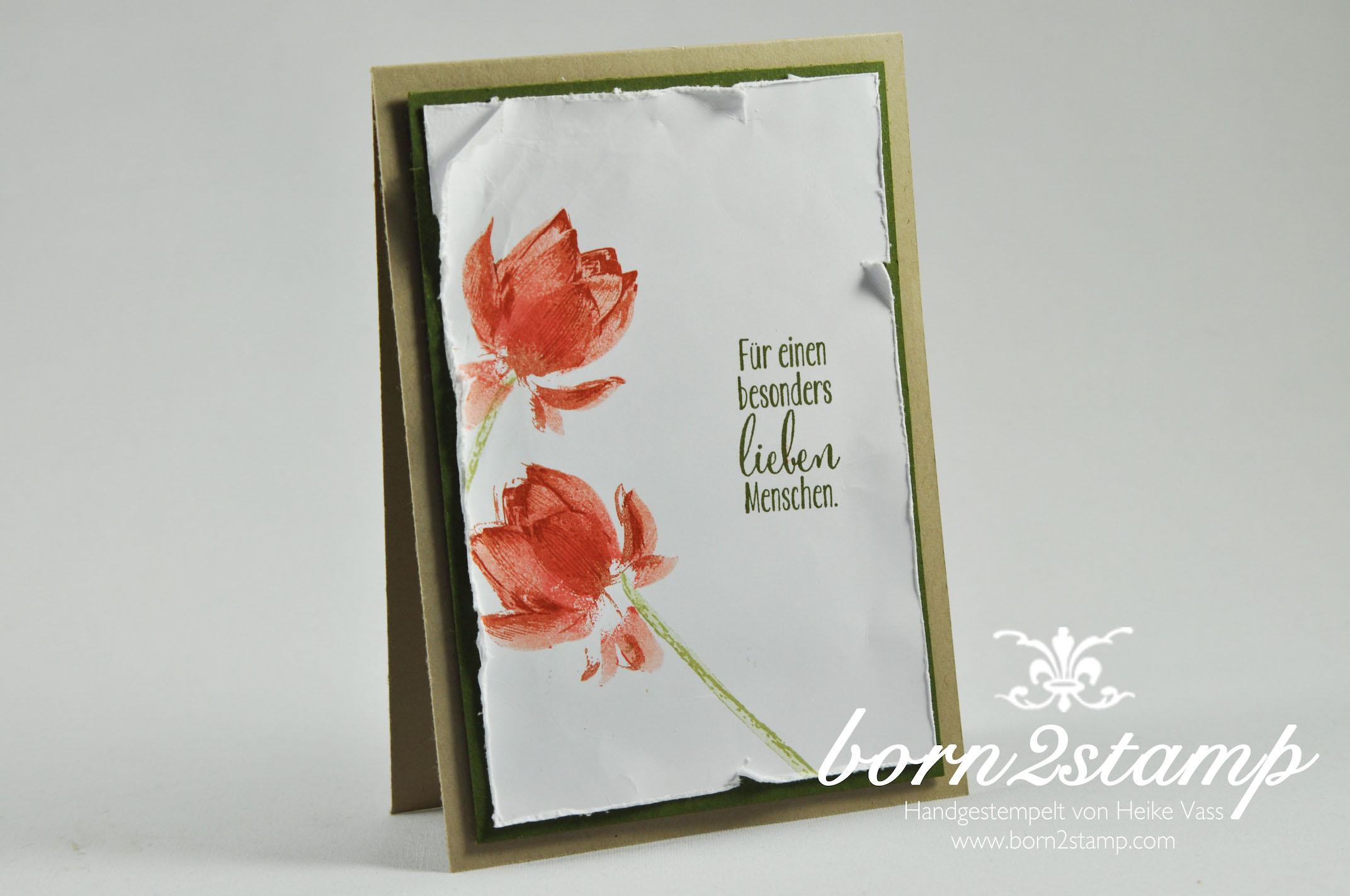 Für einen besonders lieben Menschen... - born2stamp - Heike Vass