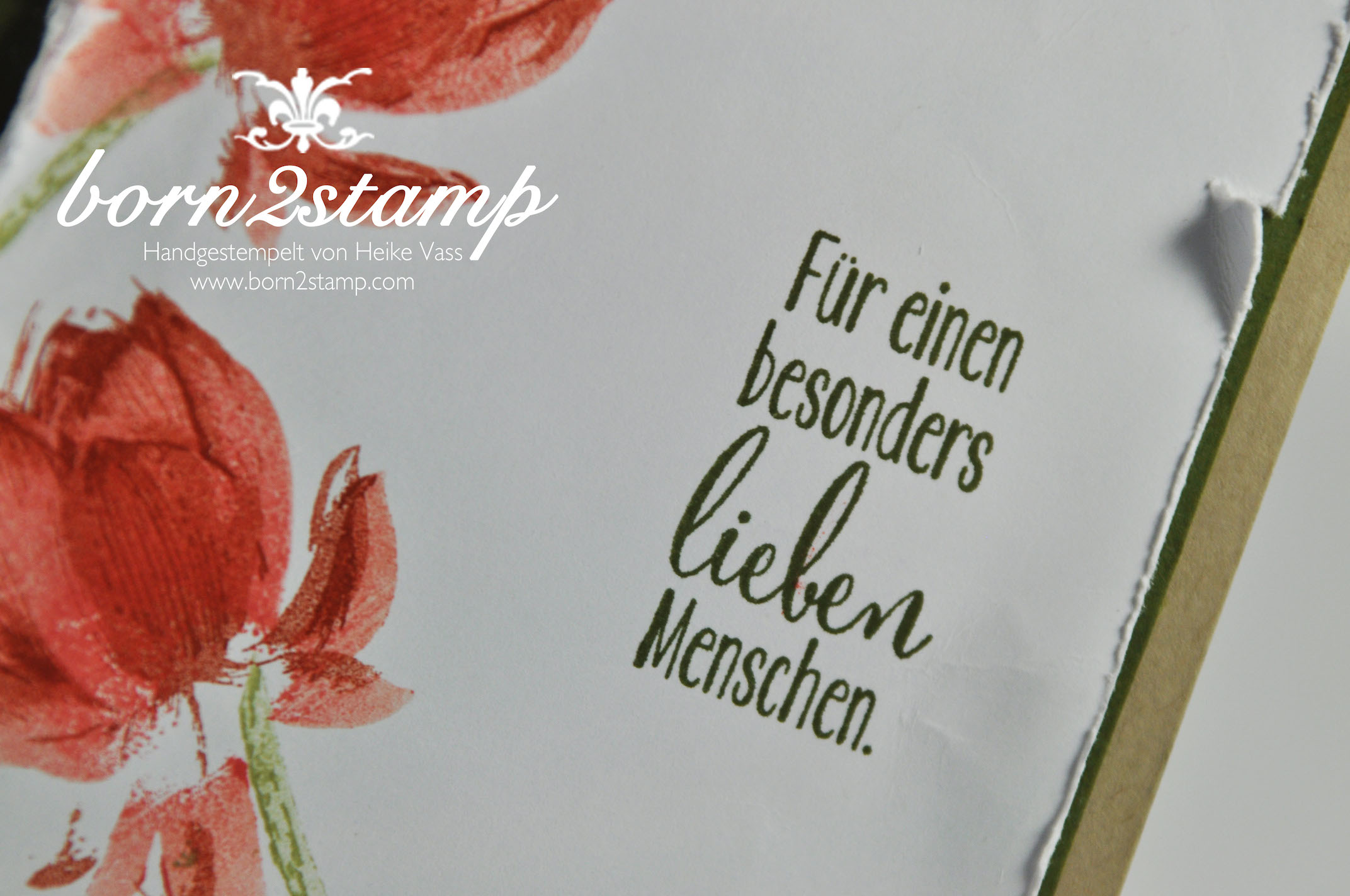 Für Einen Besonders Lieben Menschen Born2stamp Heike Vass