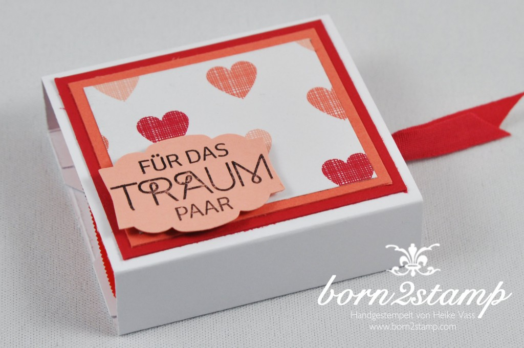 STAMPIN' UP! born2stamp kleine Verpackung Perfekter TagDSP Jede Menge Liebe Baumwollband