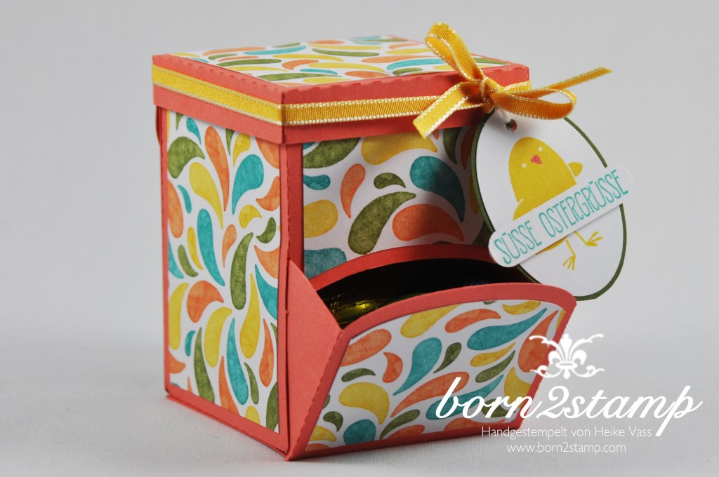 STAMPIN' UP! born2stamp - Candy Dispenser - DSP Geburtstagsparty - Ei, ei, ei