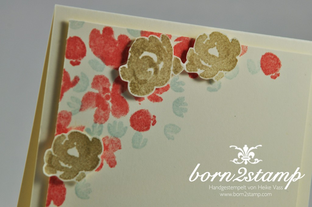 STAMPIN' UP! born2stamp Karte Painted Petals