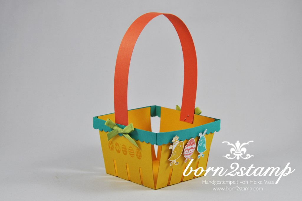 STAMPIN' UP! born2stamp Osterkörbchen Easter basket Big Shot Berry basket Ei ei ei Baumwollband