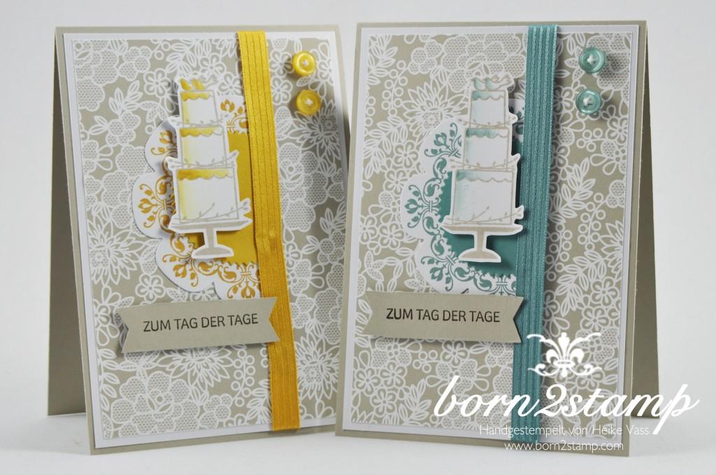 STAMPIN' UP! born2stamp Hochzeitskarte - wedding - Daydream Medallion - Perfekter Tag - Starburst Framelits - Floral Frames Framelits - DSP Trau Dich