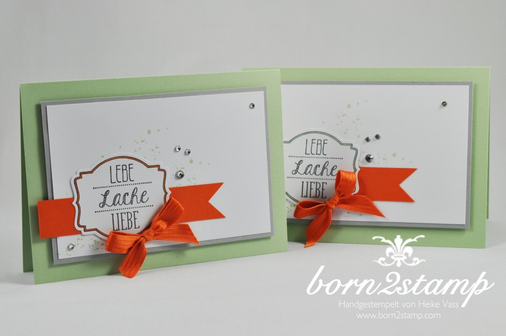 STAMPIN' UP! born2stamp Karte - Ach Du meine Gruesse - Gorgeous Grunge - Deco Labels