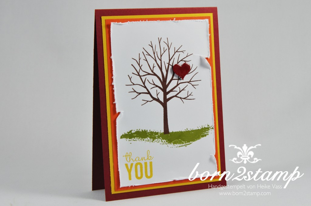 STAMPIN' UP! born2stamp Muttertagskarte - mother's day - Painted Petals - Baum der Freundschaft - Crystal effects