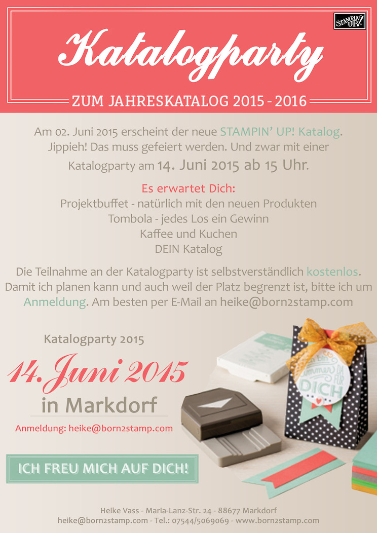 einladung zur stampin 39 up katalogparty in markdorf. Black Bedroom Furniture Sets. Home Design Ideas