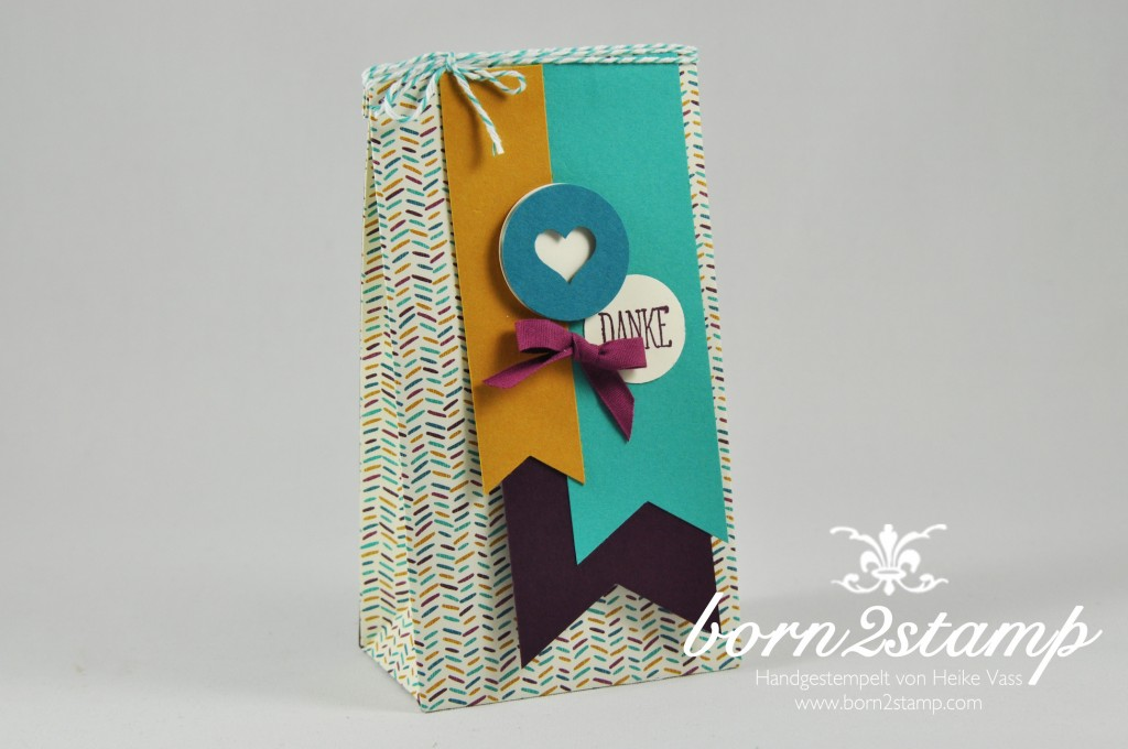 STAMPIN' UP! born2stamp Gift bag Punch board Versuche