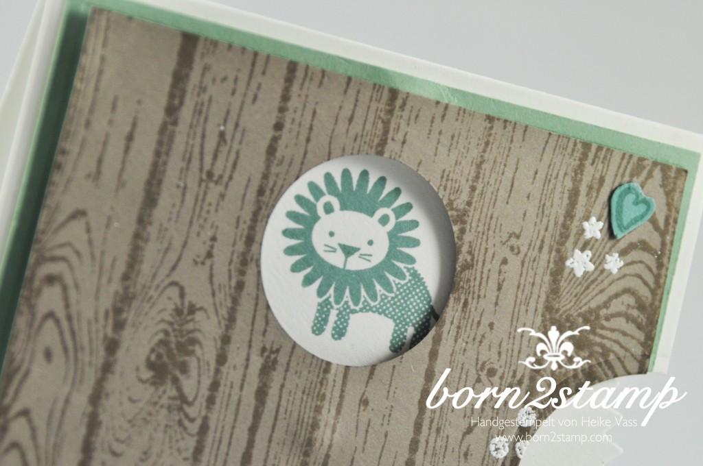 STAMPIN' UP! born2stamp Babykarte - Zoo Babies - Zum Nachwuchs - Grußelemente - Hardwood
