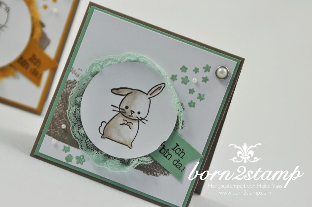 STAMPIN' UP! born2stamp Babykarte - Zum Nachwuchs - Puenktchen-Spitzenband - Perpetual Birthday Calendar