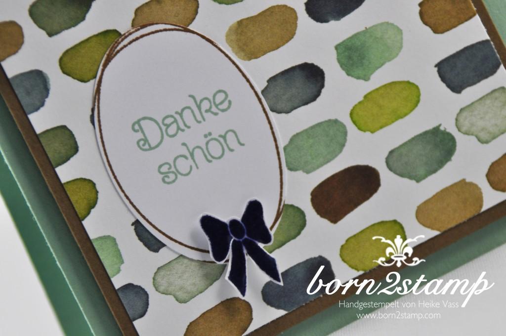 STAMPIN' UP! born2stamp Dankeskarte - DSP Englischer Garten - Pretty thankful - Frühlingsreigen - Chrystal effects