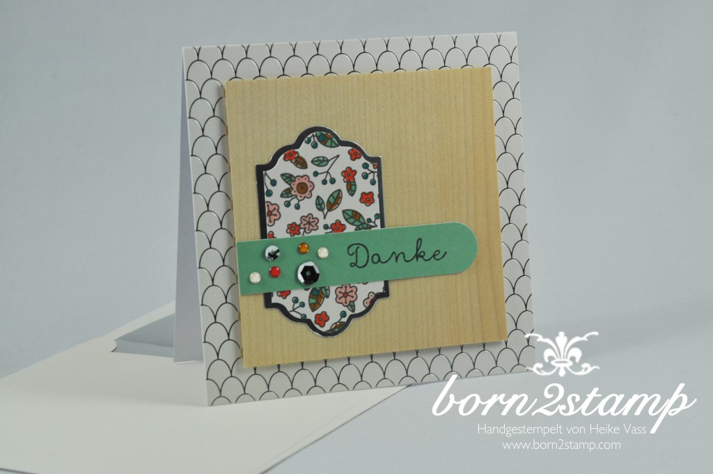 STAMPIN' UP! born2stamp Dankeskarte - Geburtstagskarte - Kartenset Landlust - Cottage Greetings