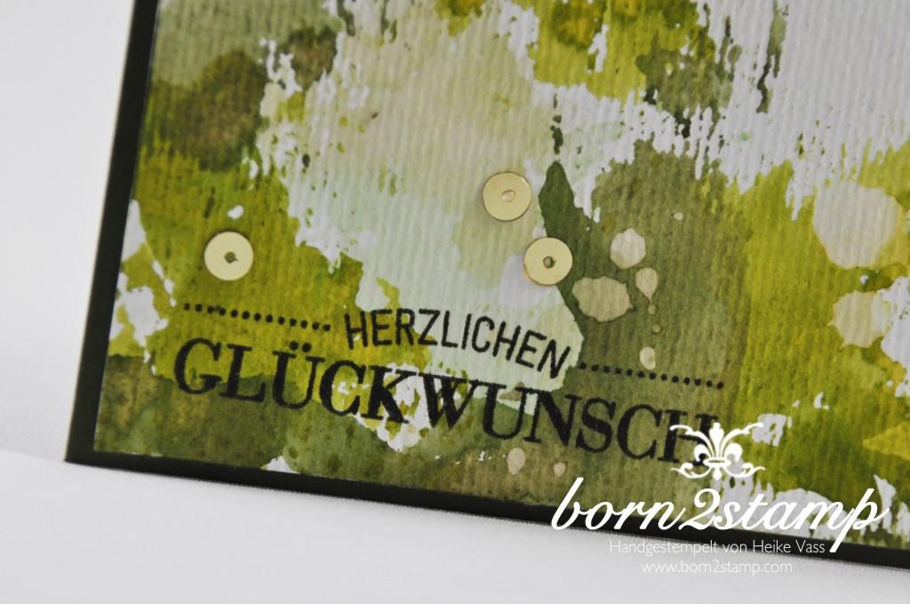 STAMPIN' UP! born2stamp Geburtstagskarte - Smooshing - Malerische Gruesse