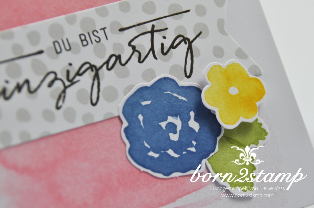 STAMPIN' UP! born2stamp Karte - Malerische Gruesse