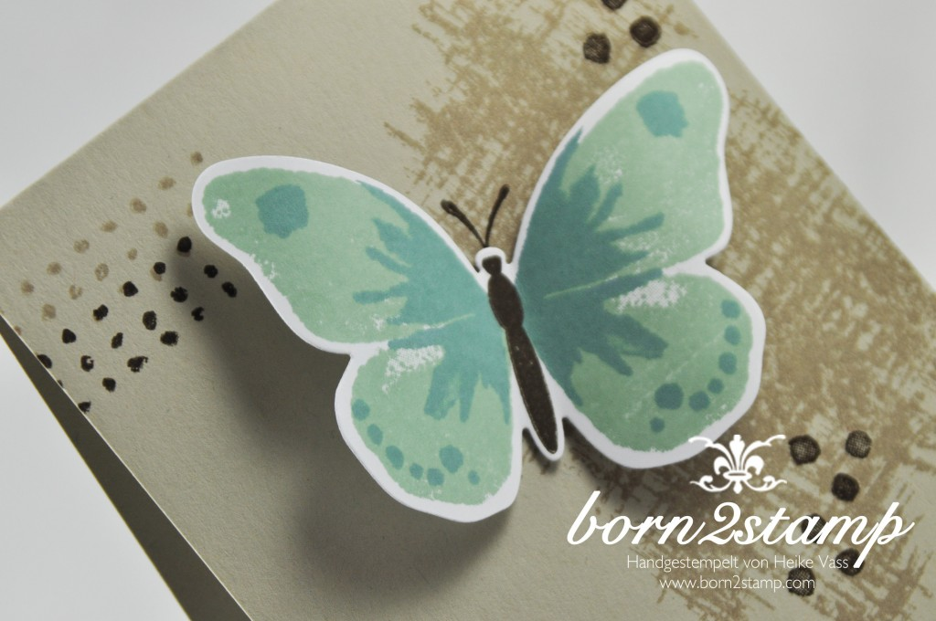 STAMPIN' UP! born2stamp Karte Watercolor Wings - Alles wird gut - Faehnchenstanze - Bold Butterfly Framelits