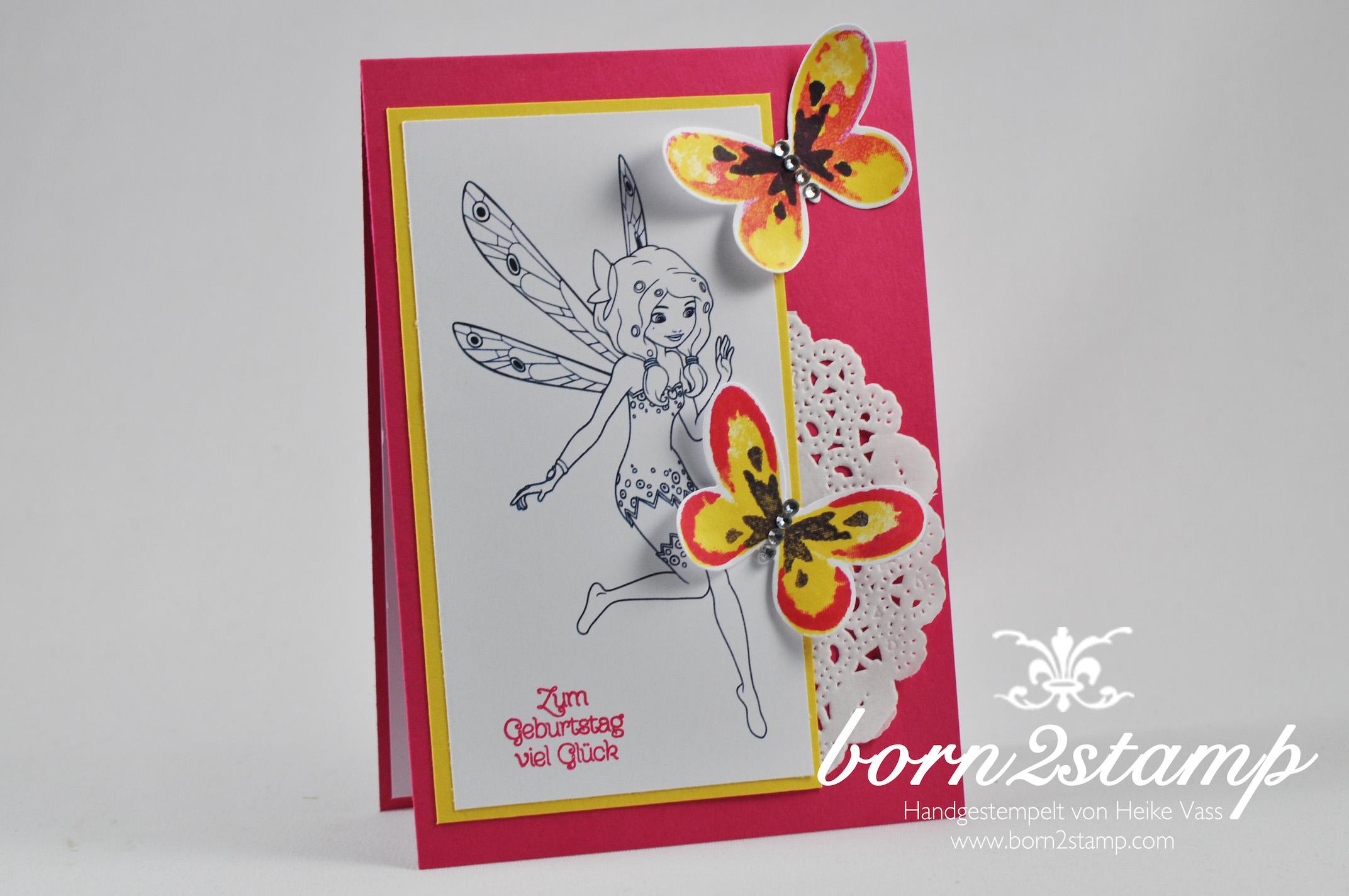 Geburtstagsw nsche mit mia me born2stamp - Geburtstagskarte basteln kinder ...