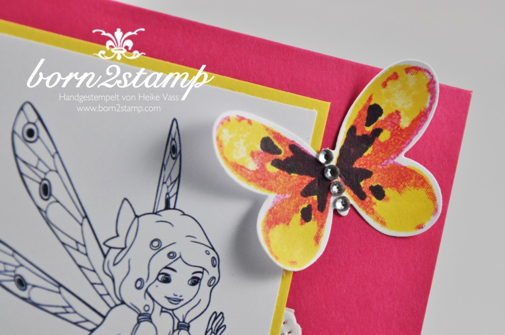 STAMPIN' UP! born2stamp Kinder-Geburtstagskarte - Mia&me - Fruehlingsreigen - Watercolor Wings - Butterfly Thinlits