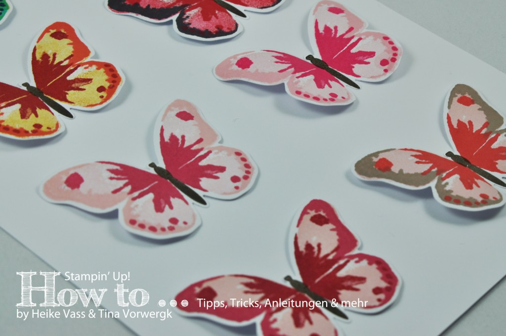 born2stamp How to... STAMPIN' UP! Watercolor Wings 32 Farbkombinationen / color combinations